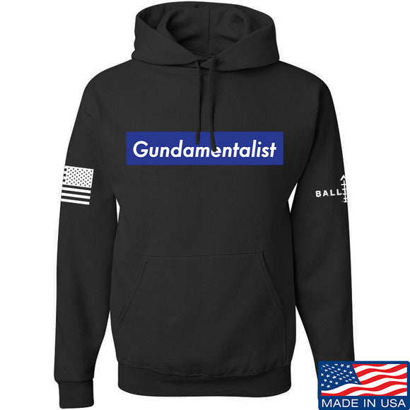 The Gun Collective Blue Gundamentalist Hoodie Hoodies Small / Black by Ballistic Ink - Made in America USA