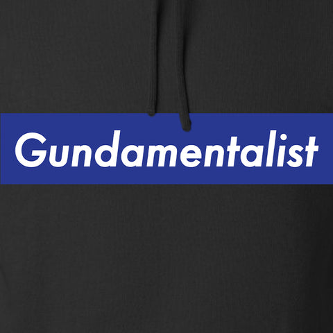 The Gun Collective Blue Gundamentalist Hoodie Hoodies [variant_title] by Ballistic Ink - Made in America USA