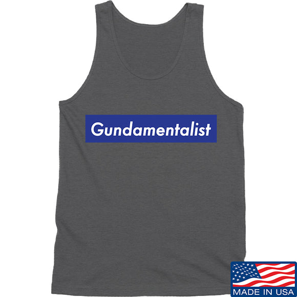 The Gun Collective Blue Gundamentalist Tank Tanks SMALL / Charcoal by Ballistic Ink - Made in America USA