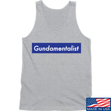 The Gun Collective Blue Gundamentalist Tank Tanks SMALL / Light Grey by Ballistic Ink - Made in America USA