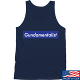 The Gun Collective Blue Gundamentalist Tank Tanks SMALL / Black by Ballistic Ink - Made in America USA
