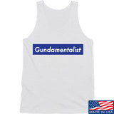 The Gun Collective Blue Gundamentalist Tank Tanks SMALL / White by Ballistic Ink - Made in America USA