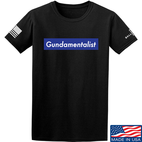 The Gun Collective Blue Gundamentalist T-Shirt T-Shirts Small / Black by Ballistic Ink - Made in America USA