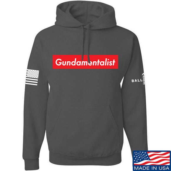 The Gun Collective Red Gundamentalist Hoodie Hoodies Small / Charcoal by Ballistic Ink - Made in America USA