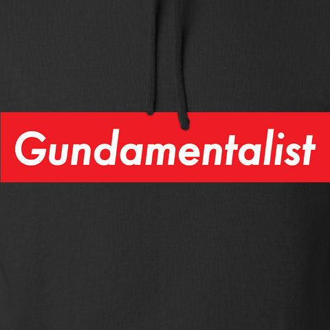 The Gun Collective Red Gundamentalist Hoodie Hoodies [variant_title] by Ballistic Ink - Made in America USA