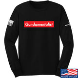 The Gun Collective Red Gundamentalist Long Sleeve T-Shirt Long Sleeve Small / Black by Ballistic Ink - Made in America USA
