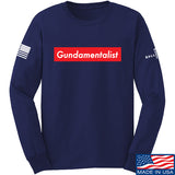The Gun Collective Red Gundamentalist Long Sleeve T-Shirt Long Sleeve Small / Navy by Ballistic Ink - Made in America USA