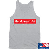 The Gun Collective Red Gundamentalist Tank Tanks SMALL / Light Grey by Ballistic Ink - Made in America USA