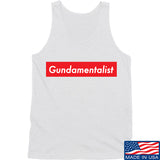 The Gun Collective Red Gundamentalist Tank Tanks SMALL / White by Ballistic Ink - Made in America USA