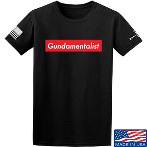 The Gun Collective Red Gundamentalist T-Shirt T-Shirts Small / Blue by Ballistic Ink - Made in America USA