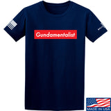 The Gun Collective Red Gundamentalist T-Shirt T-Shirts Small / Navy by Ballistic Ink - Made in America USA
