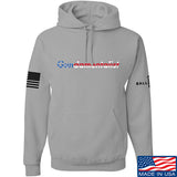 The Gun Collective Flag Gundamentalist Hoodie Hoodies Small / Light Grey by Ballistic Ink - Made in America USA