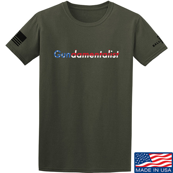 The Gun Collective Flag Gundamentalist T-Shirt T-Shirts Small / Military Green by Ballistic Ink - Made in America USA