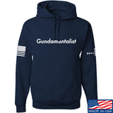 The Gun Collective White Gundamentalist Hoodie Hoodies Small / Navy by Ballistic Ink - Made in America USA