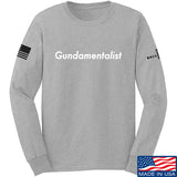 The Gun Collective White Gundamentalist Long Sleeve T-Shirt Long Sleeve Small / Light Grey by Ballistic Ink - Made in America USA