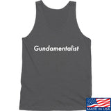 The Gun Collective White Gundamentalist Tank Tanks SMALL / Charcoal by Ballistic Ink - Made in America USA