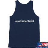 The Gun Collective White Gundamentalist Tank Tanks SMALL / Navy by Ballistic Ink - Made in America USA