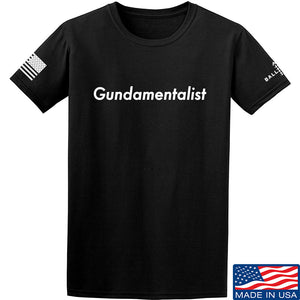 The Gun Collective White Gundamentalist T-Shirt T-Shirts Small / Black by Ballistic Ink - Made in America USA