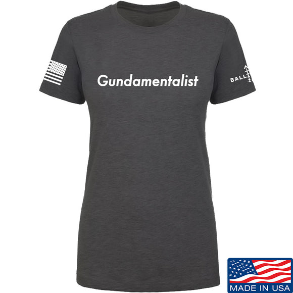 The Gun Collective Ladies White Gundamentalist T-Shirt T-Shirts SMALL / Charcoal by Ballistic Ink - Made in America USA