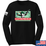 The Gun Collective Guntrepreneur Long Sleeve T-Shirt Long Sleeve Small / Black by Ballistic Ink - Made in America USA