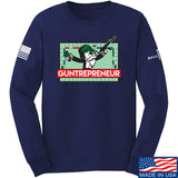 The Gun Collective Guntrepreneur Long Sleeve T-Shirt Long Sleeve Small / Navy by Ballistic Ink - Made in America USA
