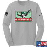 The Gun Collective Guntrepreneur Long Sleeve T-Shirt Long Sleeve Small / Light Grey by Ballistic Ink - Made in America USA