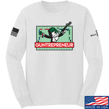 The Gun Collective Guntrepreneur Long Sleeve T-Shirt Long Sleeve Small / White by Ballistic Ink - Made in America USA