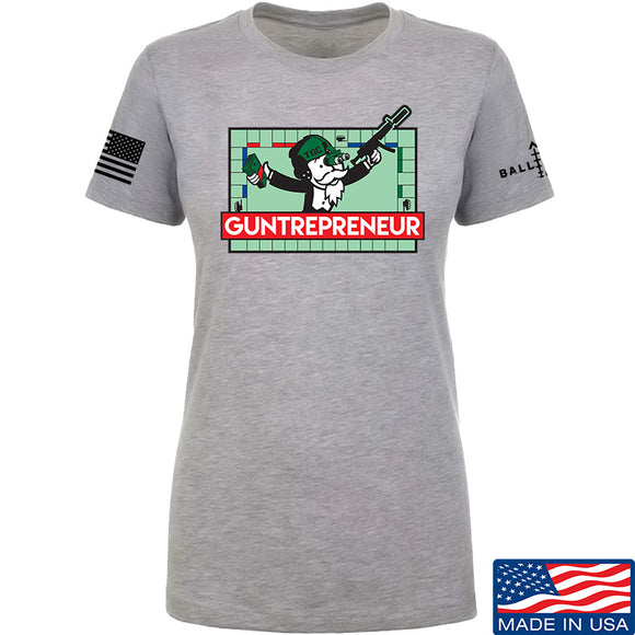 The Gun Collective Ladies Guntrepreneur T-Shirt T-Shirts SMALL / Light Grey by Ballistic Ink - Made in America USA