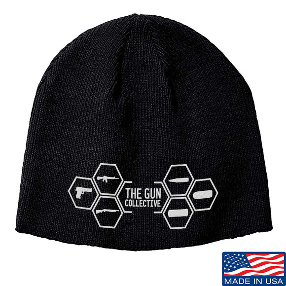 The Gun Collective The Gun Collective Logo Beanie Headwear Black by Ballistic Ink - Made in America USA