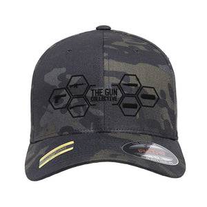 The Gun Collective The Gun Collective Logo Flexfit® Multicam® Trucker Cap Headwear Black Multicam S/M by Ballistic Ink - Made in America USA