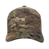 The Gun Collective The Gun Collective Logo Flexfit® Multicam® Trucker Cap Headwear Multicam S/M by Ballistic Ink - Made in America USA