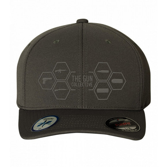 The Gun Collective The Gun Collective Logo Flexfit® Cool & Dry Sport Cap Headwear Tone On Tone / S/M by Ballistic Ink - Made in America USA
