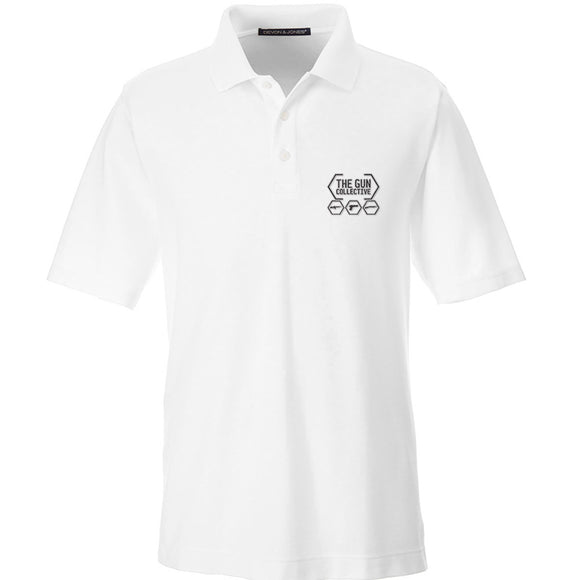 The Gun Collective The Gun Collective Logo Polo Polos Small / White by Ballistic Ink - Made in America USA