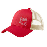 The Gun Collective The Gun Collective Side Logo Snapback Cap Headwear Red/Oyster by Ballistic Ink - Made in America USA