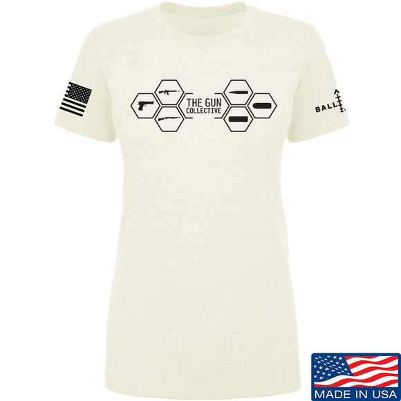 The Gun Collective Ladies The Gun Collective Full Logo T-Shirt T-Shirts SMALL / Cream by Ballistic Ink - Made in America USA