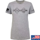 The Gun Collective Ladies The Gun Collective Full Logo T-Shirt T-Shirts SMALL / Light Grey by Ballistic Ink - Made in America USA