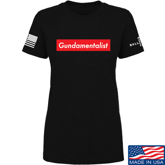 The Gun Collective Ladies Red Gundamentalist T-Shirt T-Shirts SMALL / Black by Ballistic Ink - Made in America USA