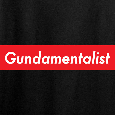 The Gun Collective Ladies Red Gundamentalist T-Shirt T-Shirts [variant_title] by Ballistic Ink - Made in America USA