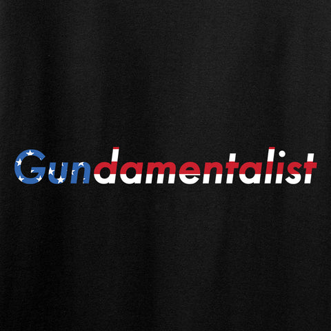 The Gun Collective Ladies Flag Gundamentalist V-Neck T-Shirts, V-Neck [variant_title] by Ballistic Ink - Made in America USA