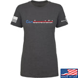 The Gun Collective Ladies Flag Gundamentalist T-Shirt T-Shirts SMALL / Charcoal by Ballistic Ink - Made in America USA