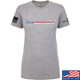 The Gun Collective Ladies Flag Gundamentalist T-Shirt T-Shirts SMALL / Light Grey by Ballistic Ink - Made in America USA