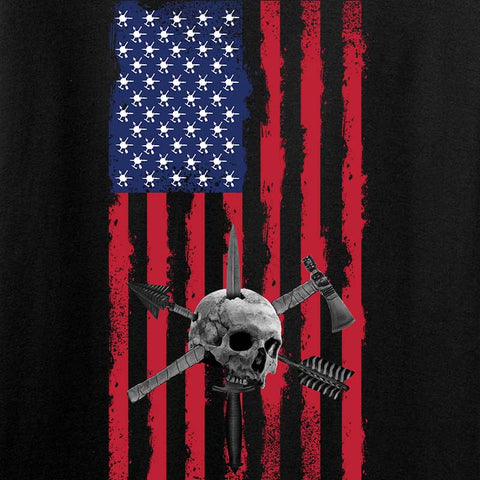 Tactical Rifleman US Flag Long Sleeve T-Shirt