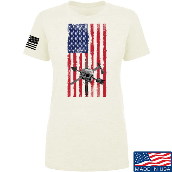 Ladies Tactical Rifleman US Flag T-Shirt