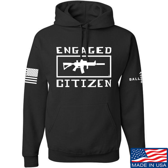 Tactical Walls Engaged Citizen Hoodie Hoodies Small / Black by Ballistic Ink - Made in America USA