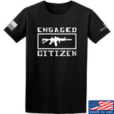 Tactical Walls Engaged Citizen T-Shirt T-Shirts Small / Black by Ballistic Ink - Made in America USA