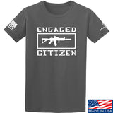 Tactical Walls Engaged Citizen T-Shirt T-Shirts Small / Charcoal by Ballistic Ink - Made in America USA