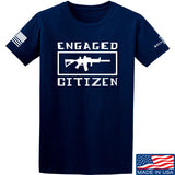 Tactical Walls Engaged Citizen T-Shirt T-Shirts Small / Navy by Ballistic Ink - Made in America USA