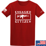 Tactical Walls Engaged Citizen T-Shirt T-Shirts Small / Red by Ballistic Ink - Made in America USA