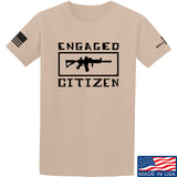 Tactical Walls Engaged Citizen T-Shirt T-Shirts Small / Sand by Ballistic Ink - Made in America USA