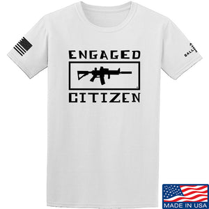 Tactical Walls Engaged Citizen T-Shirt T-Shirts Small / Blue by Ballistic Ink - Made in America USA
